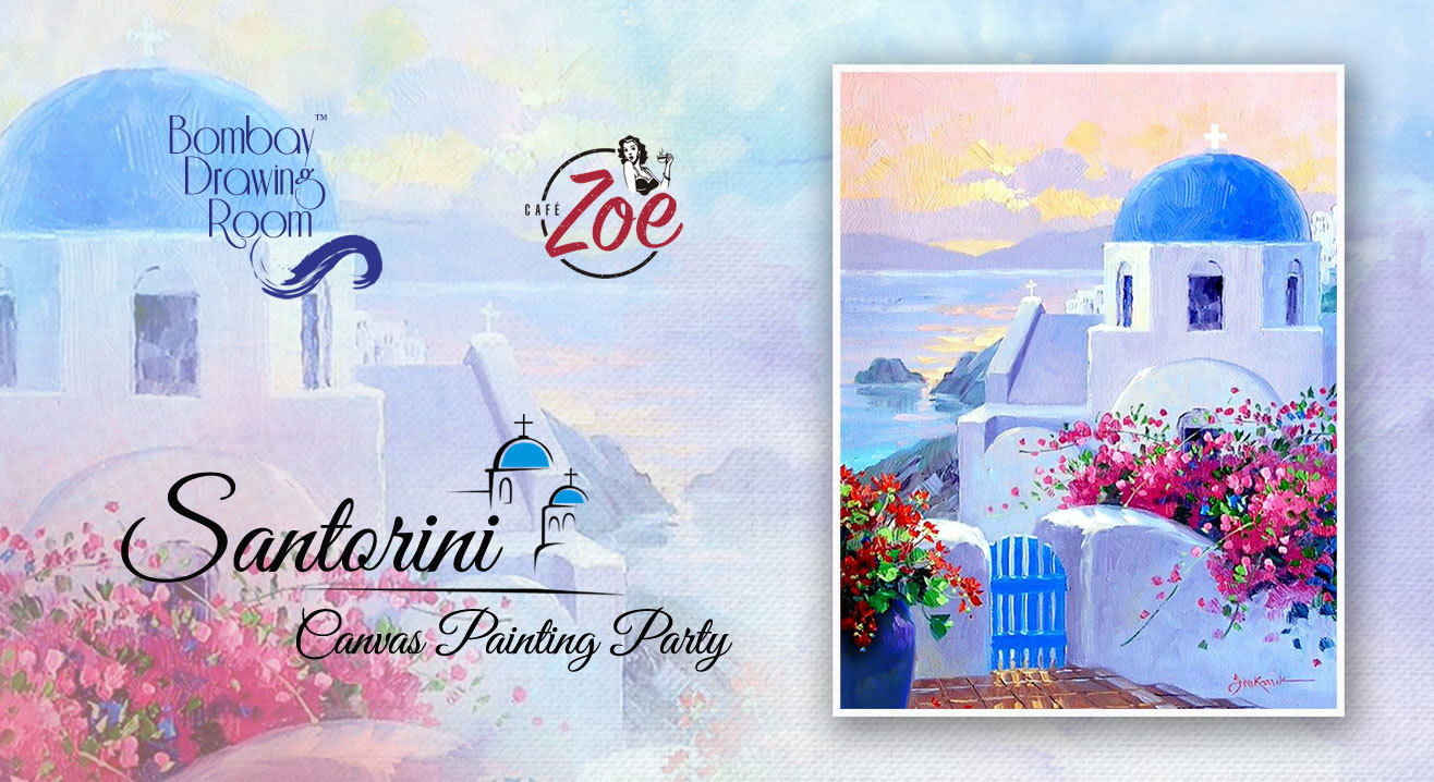 Santorini - Canvas Painting Party