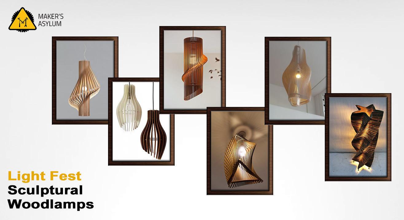 Lightfest: Sculptural Wood Lamps