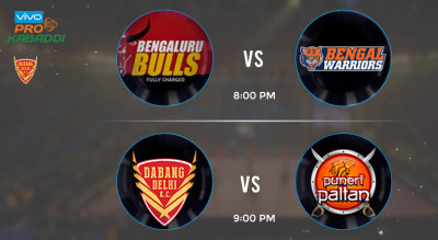 Pro Kabaddi Tickets - Bengaluru Bulls vs Bengal Warriors & Dabang Delhi vs Puneri Paltan