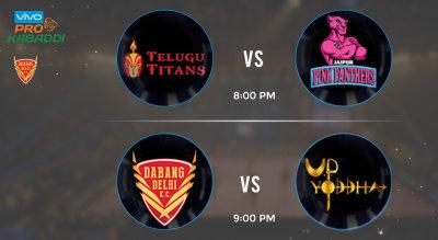 Pro Kabaddi Tickets - Telugu Titans vs Jaipur Pink Panthers & Dabang Delhi KC vs UP Yoddha