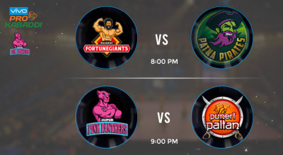 Pro Kabaddi Tickets - Gujarat Fortunegiants vs Patna Pirates & Jaipur Pink Panthers vs Puneri Paltan