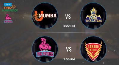 Pro Kabaddi Tickets - UMumba vs Tamil Thalaiva & Jaipur Pink Panthers vs Dabang Delhi