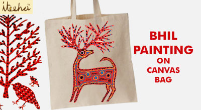 Bhil Painting On Canvas Bag Workshop