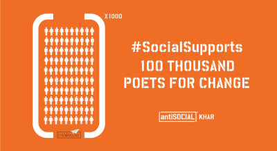 SocialSupports 100 Thousand Poets For Change, Mumbai