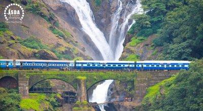 Mighty Dudhsagar Waterfalls Goa