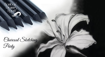 Charcoal Sketching Party