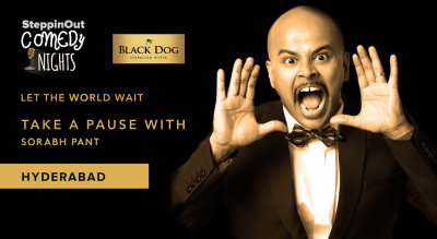 Black Dog Easy Evening with Sourab Pant - Steppinout Comedy Nights, Hyderabad