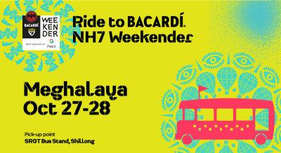 Ride to Bacardi NH7 Weekender Meghalaya