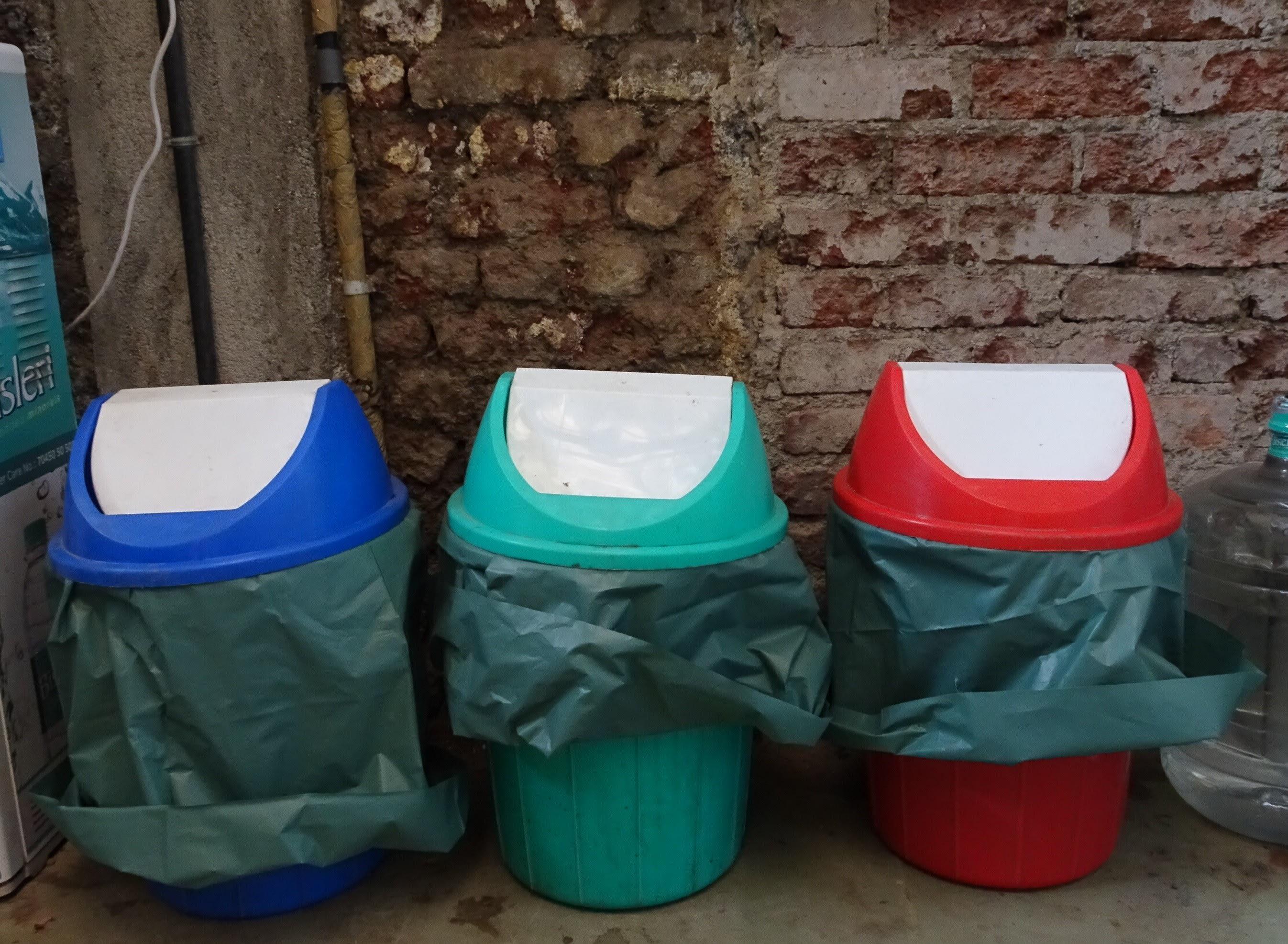 Multiple bins for multiple types of waste!