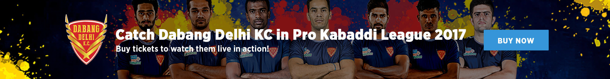 Catch Dabang Delhi KC in Pro Kabaddi League 2017!