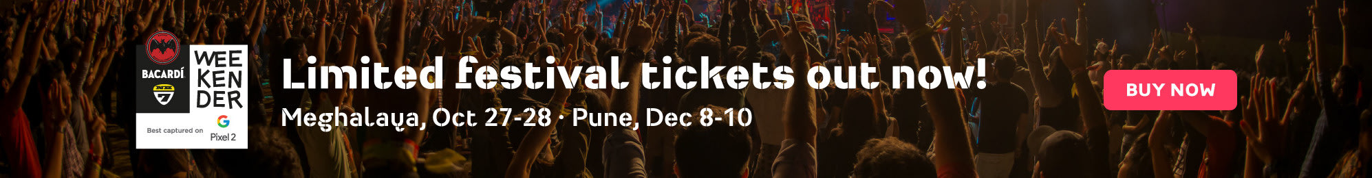 Limited festival pre-sale tickets for Bacardi NH7 Weekender 2017 now live!