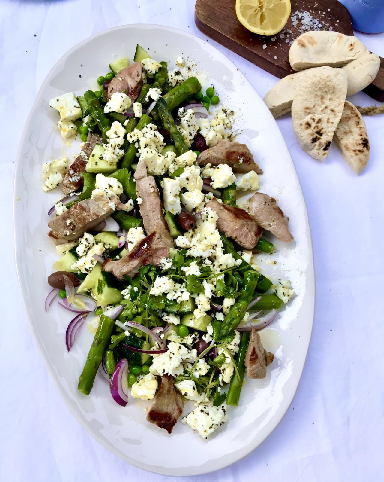 Greek Lamb and Feta Salad