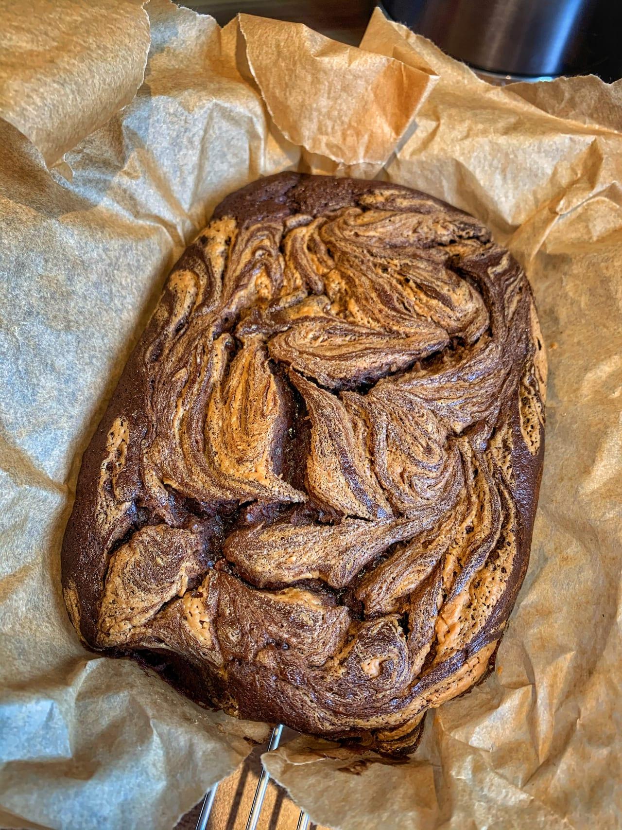 Chocolate Banana and Biscoff 'Brownies'