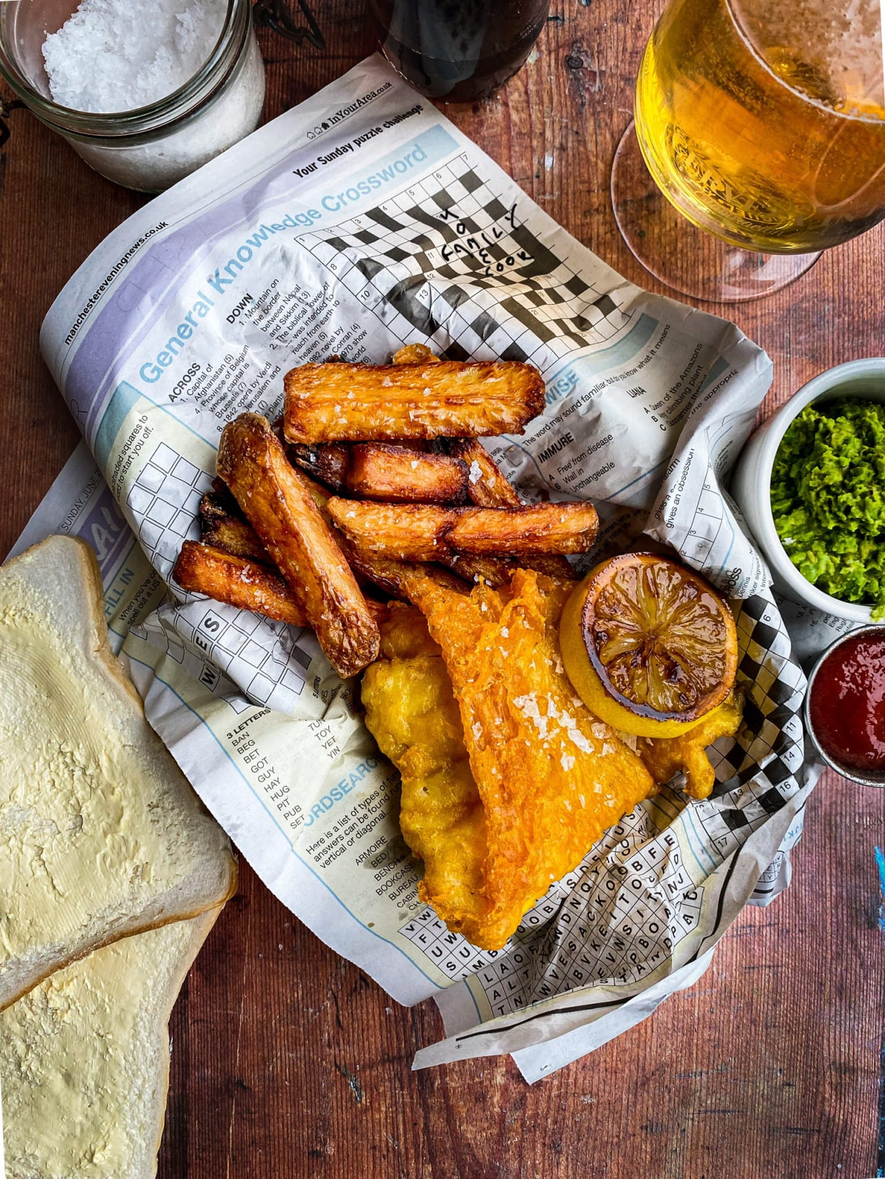 Fish, Chips & Minty Peas