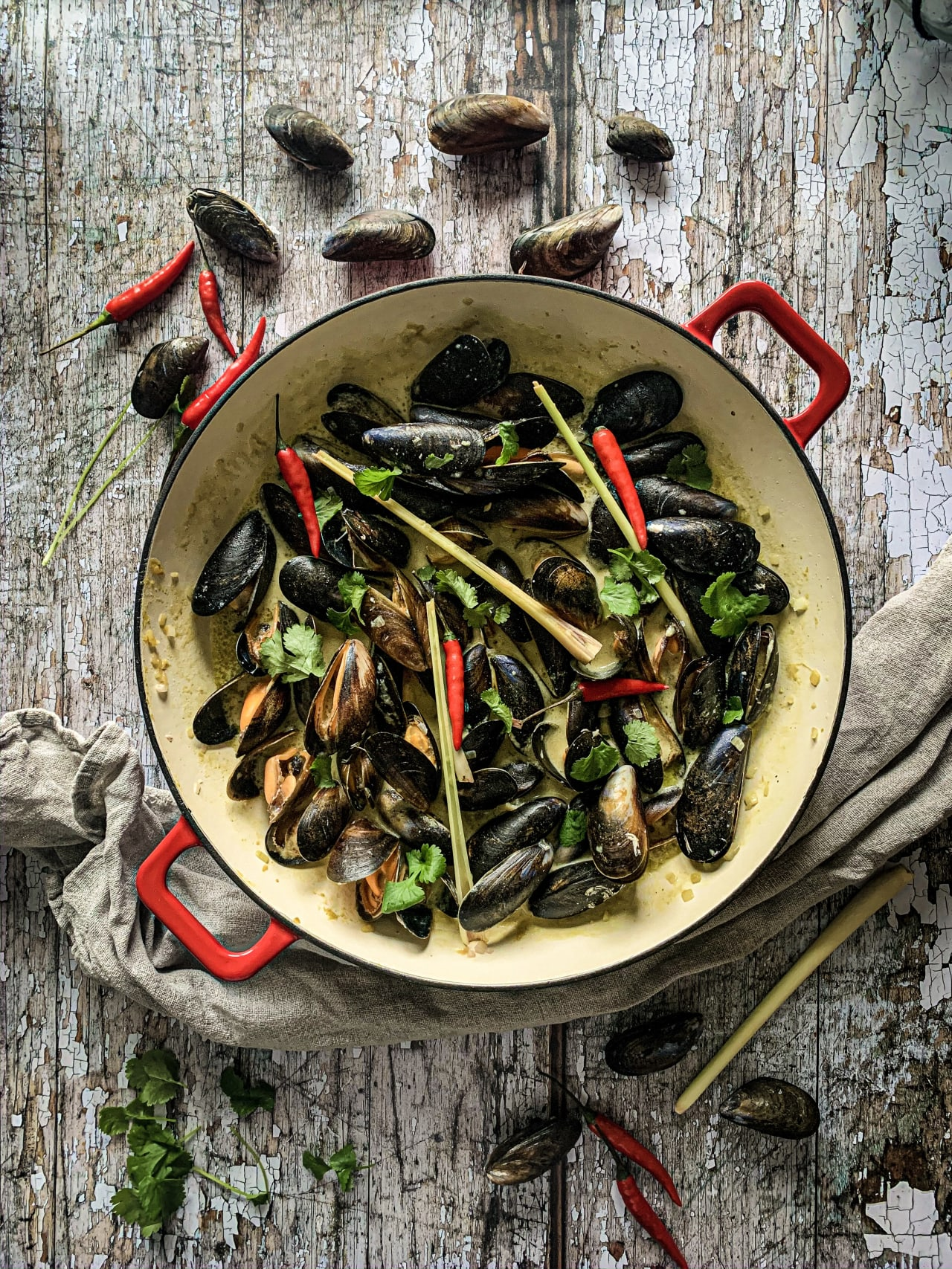 Thai Green Curry Mussels