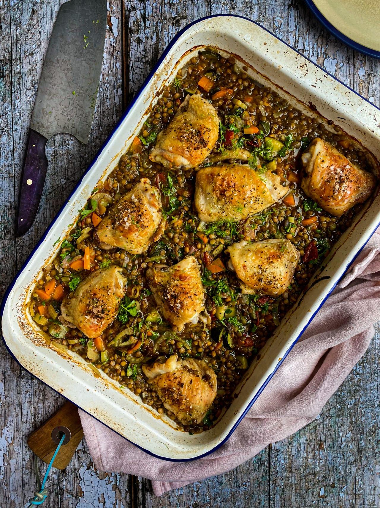 Chicken & Lentil Traybake