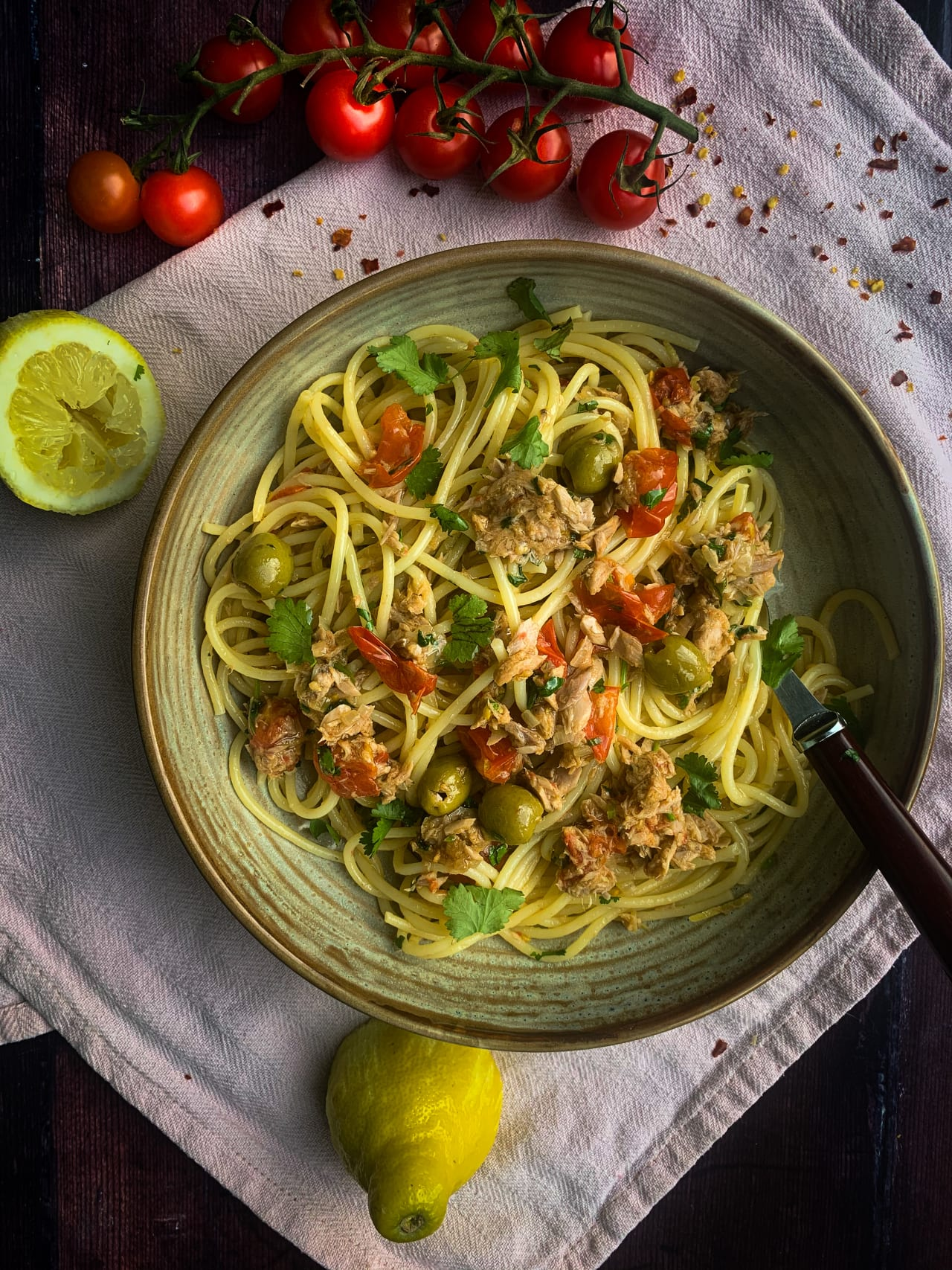 Lemon Tuna Pasta
