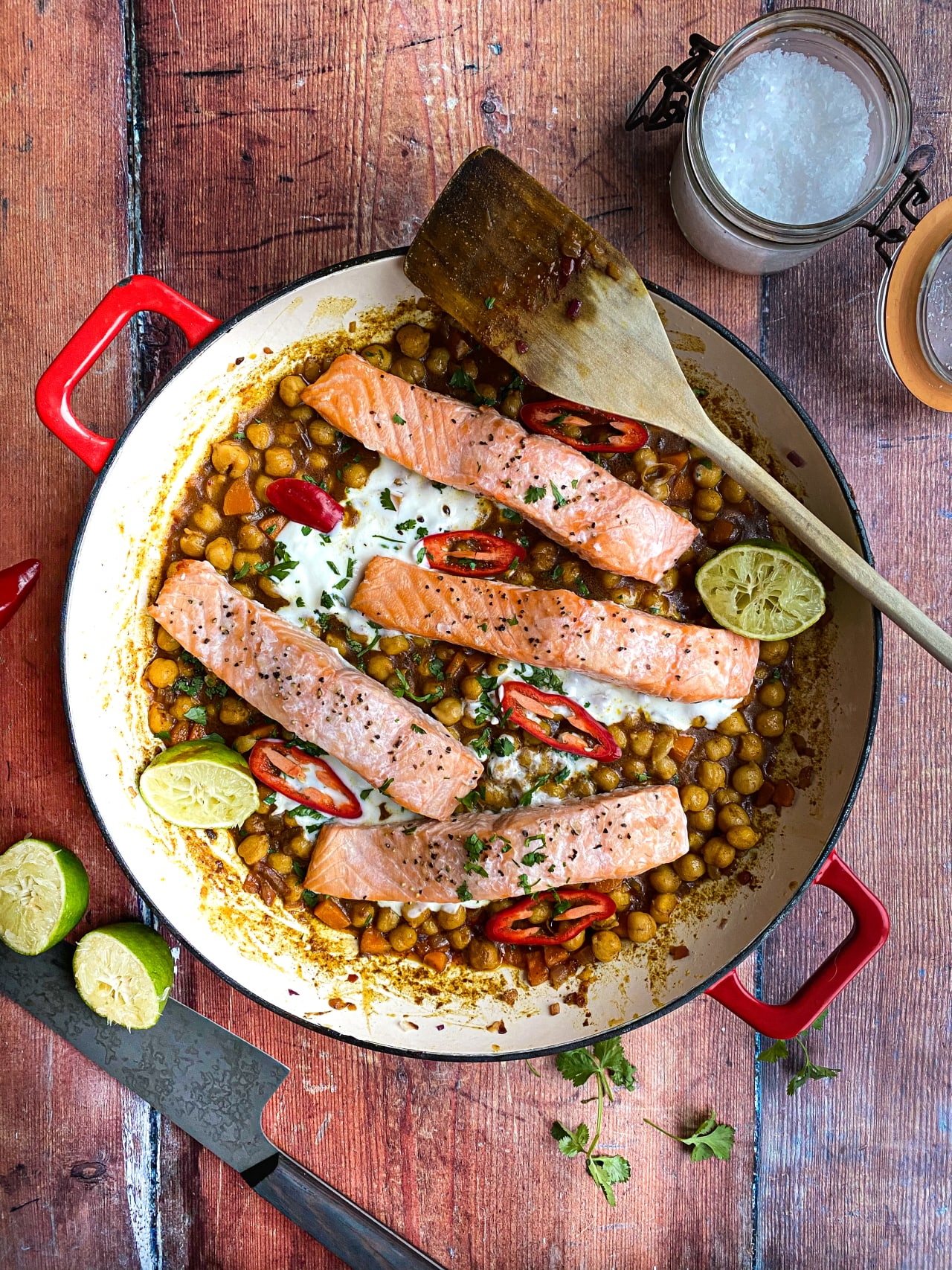 Salmon & Chickpea Curry