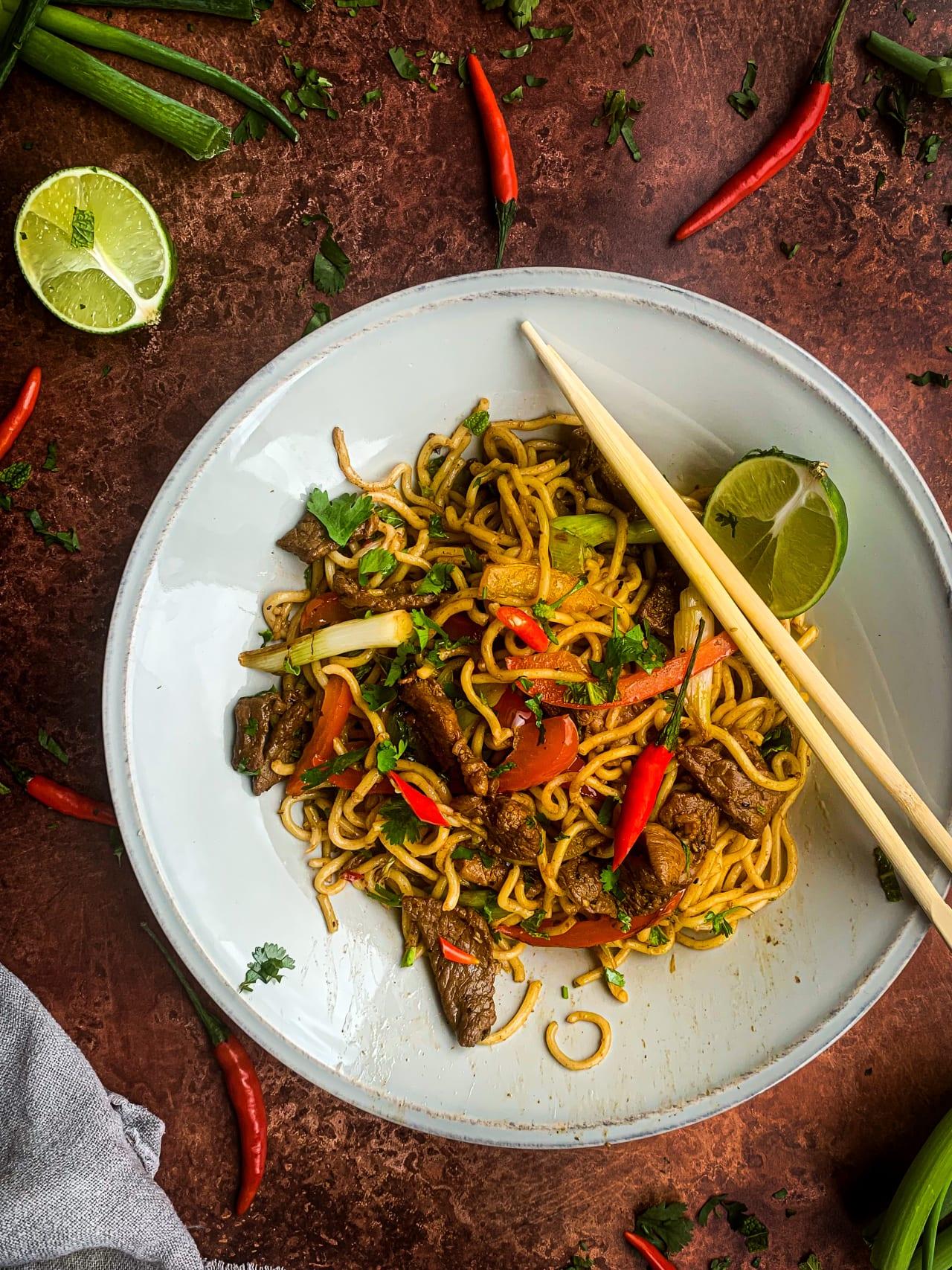Lamb Stirfry Noodles