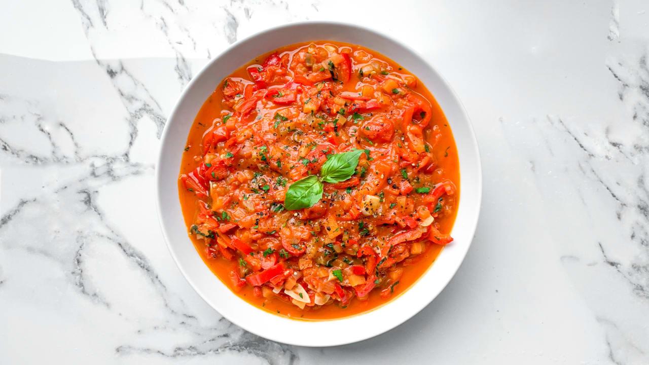 Tomato & Red Pepper Sauce