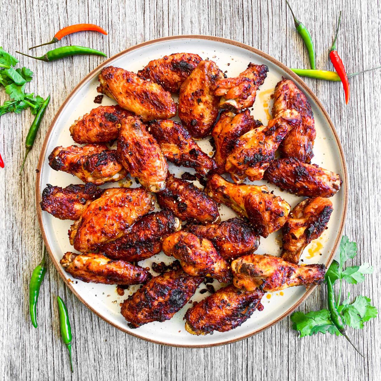 Harissa Honey Chicken Wings