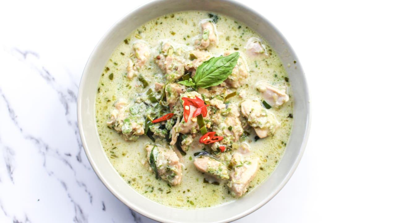 Homemade Thai Green Chicken Curry