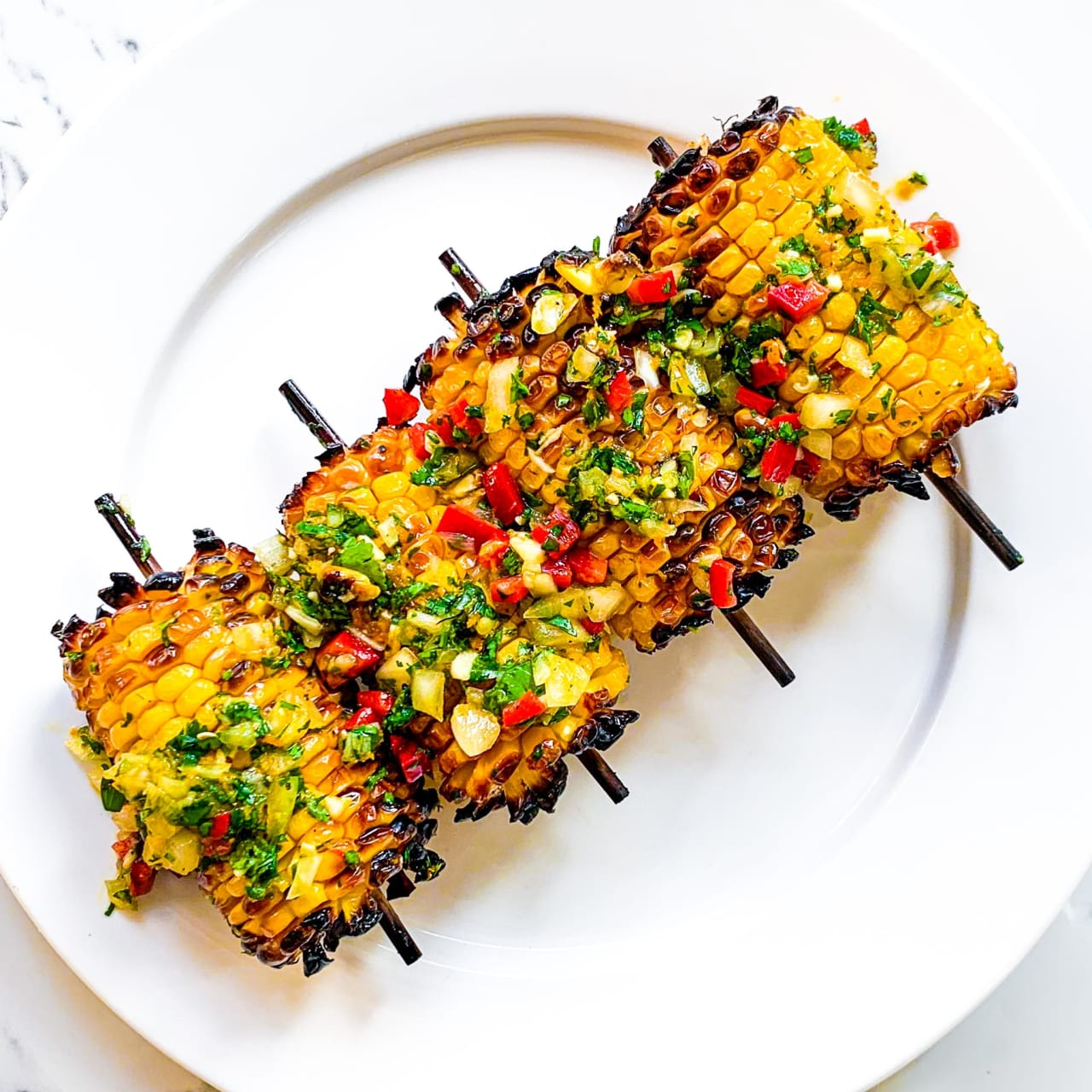 Chimichurri Grilled Corn on the Cob