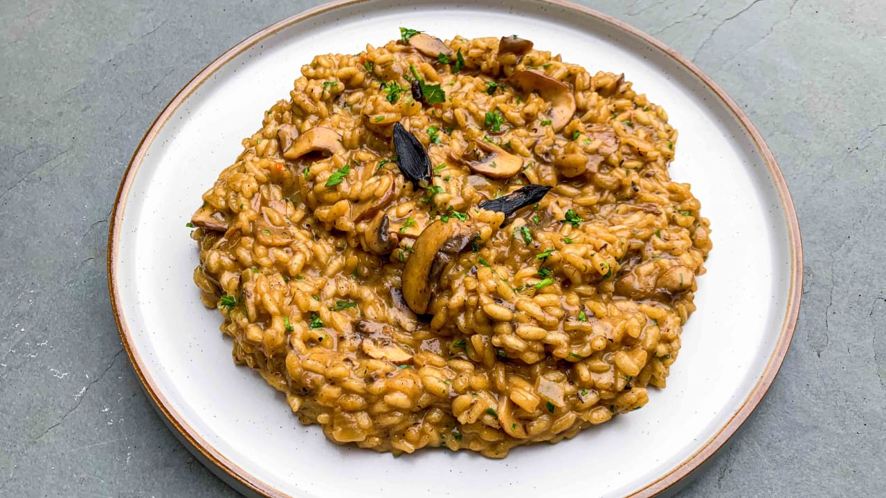 Black Garlic & Mushroom Risotto