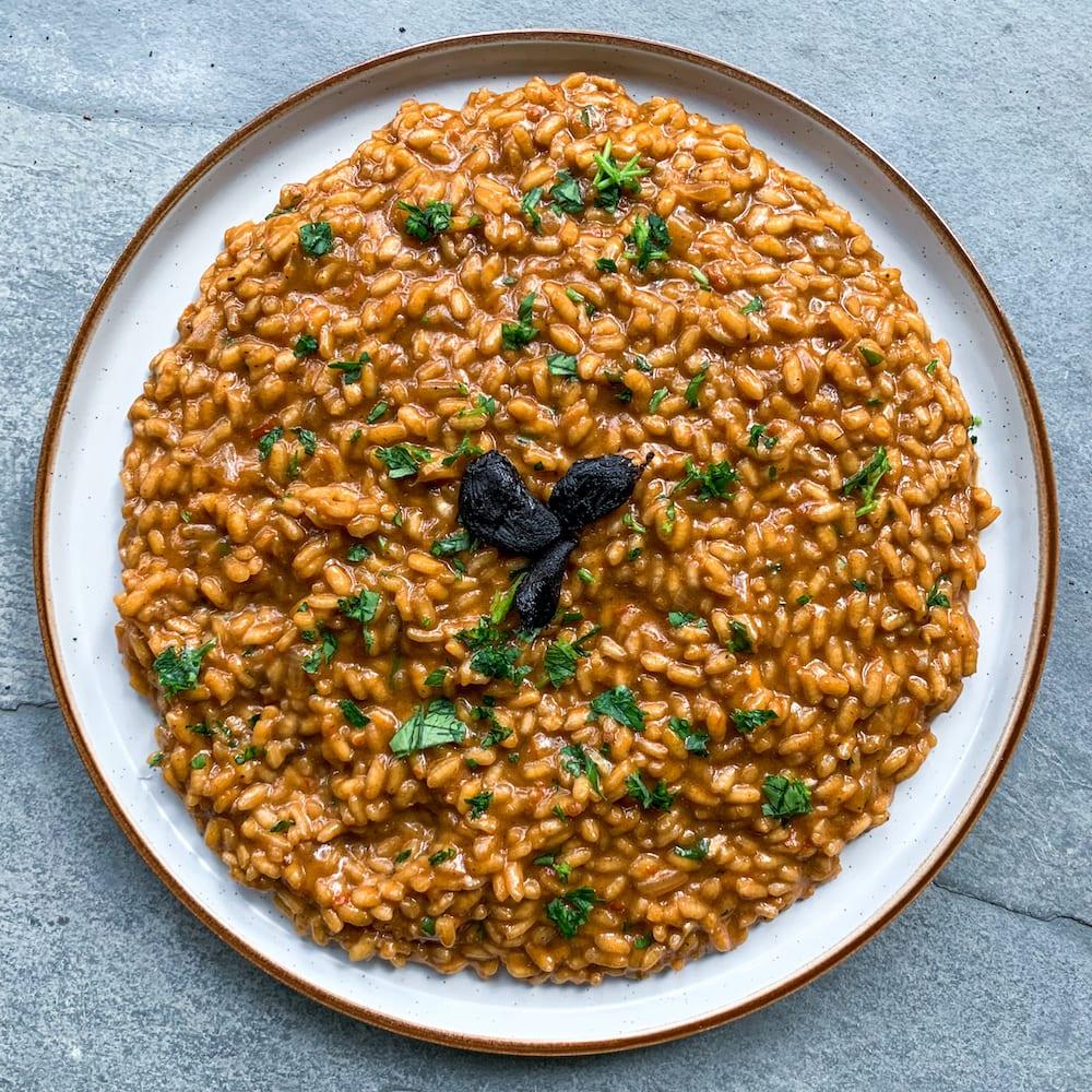 Black Garlic & Sundried Tomato Risotto