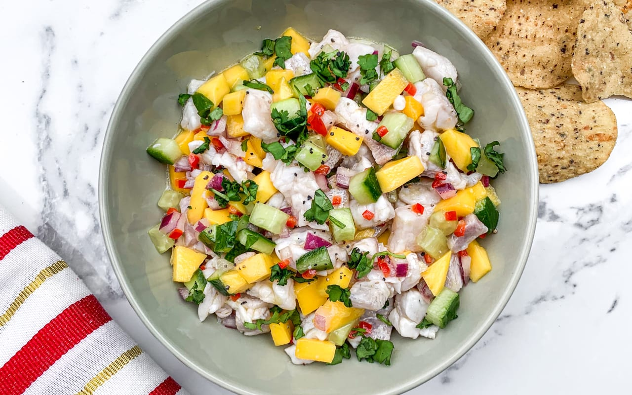 White Fish and Mango Ceviche