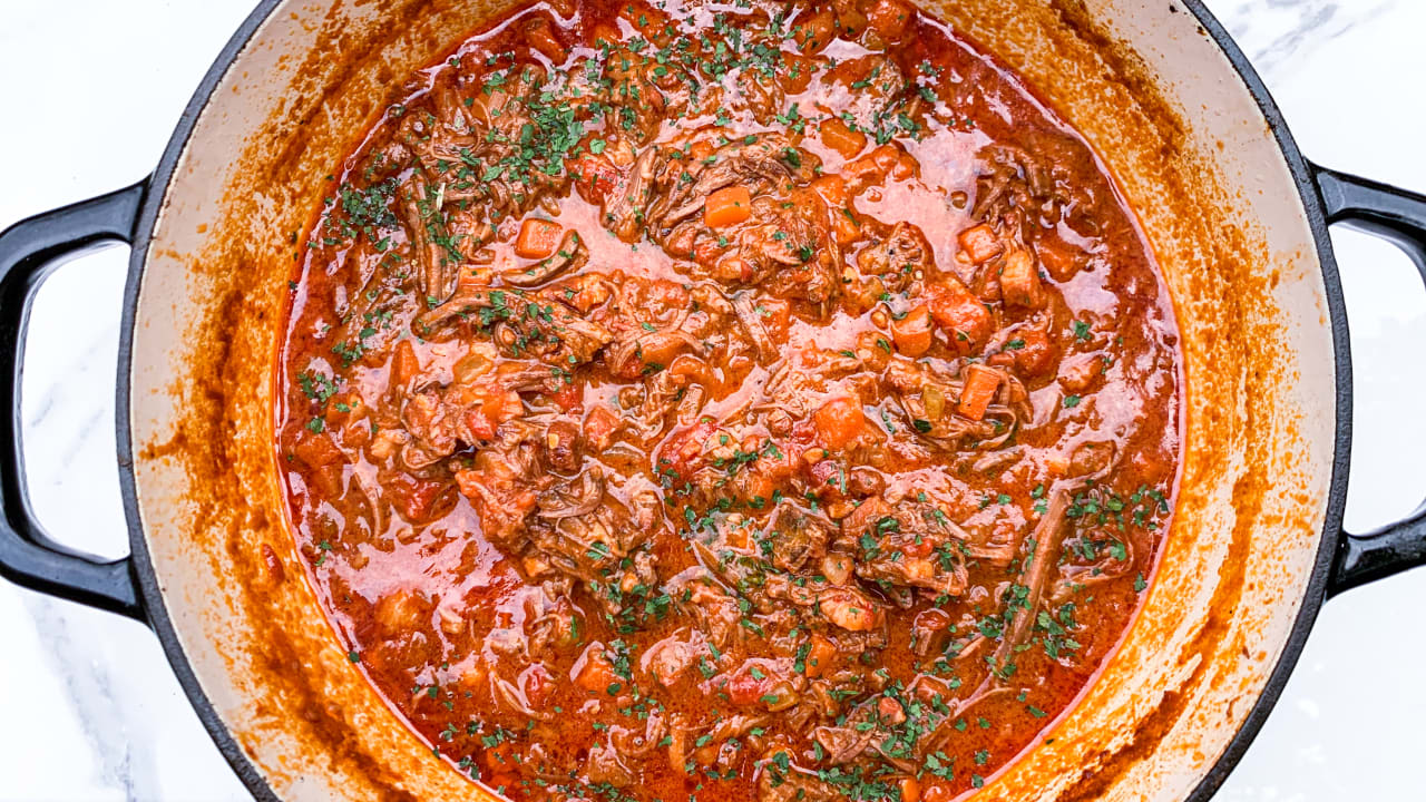Making the perfect slow-cooked brisket ragù