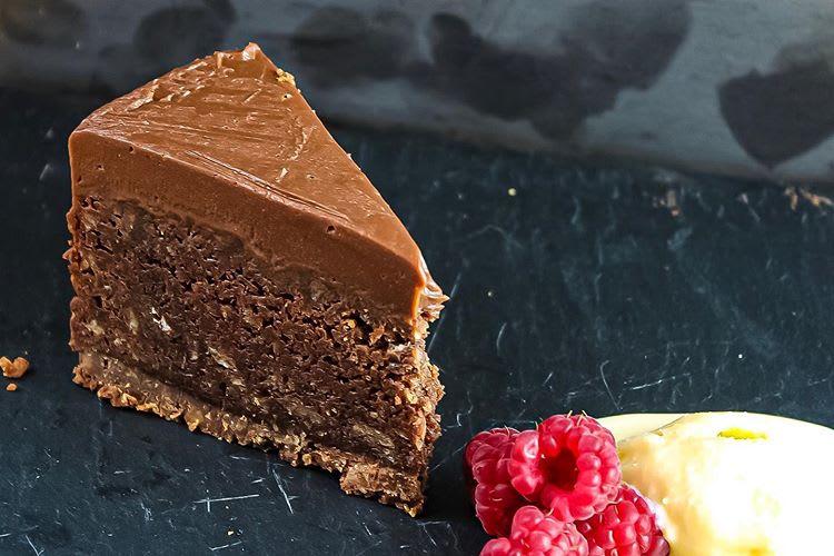 Chocolate Torte with Honey Ice Cream