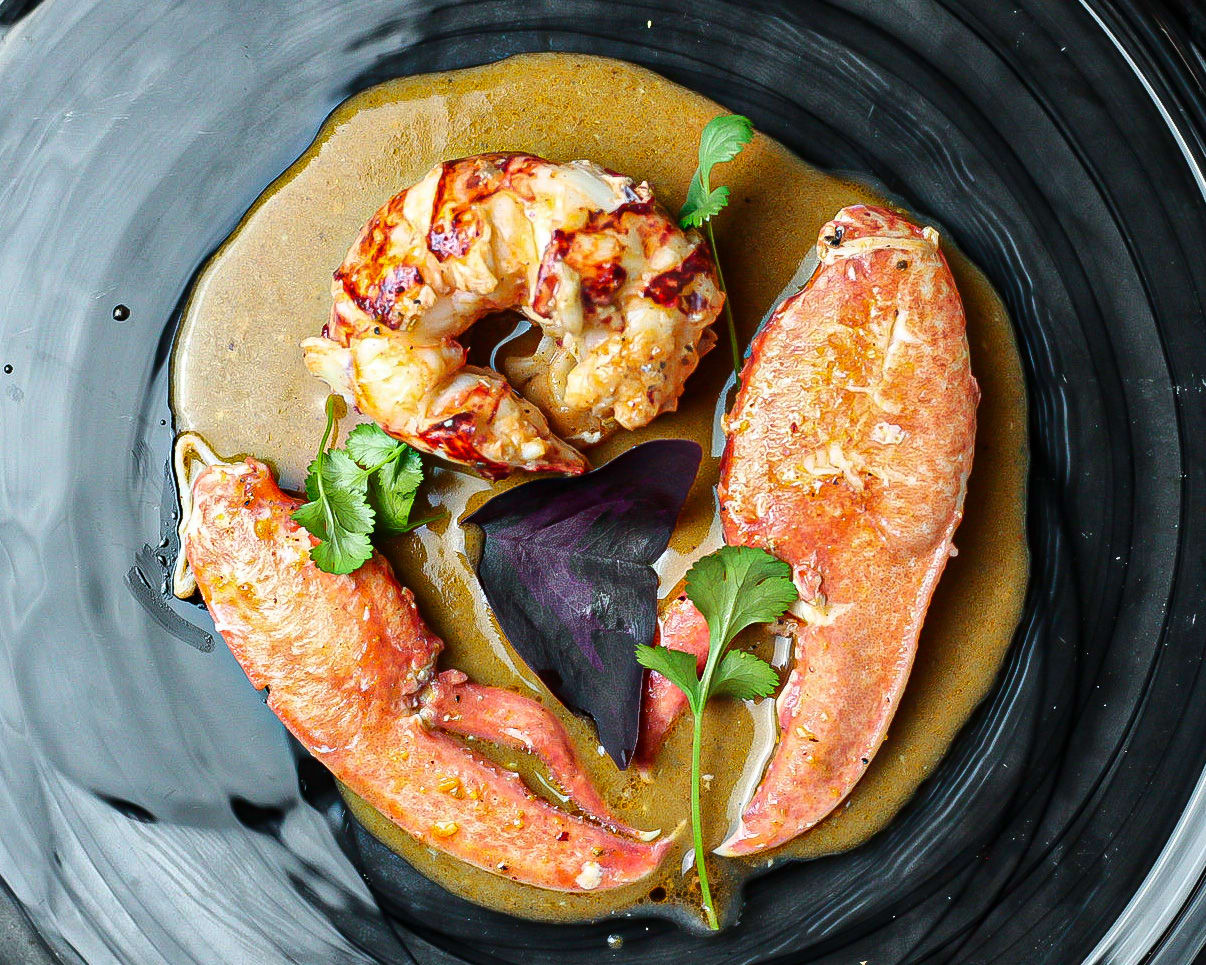 Whole Lobster with Sri Lankan Coconut Curry and Lobster Curry Butter