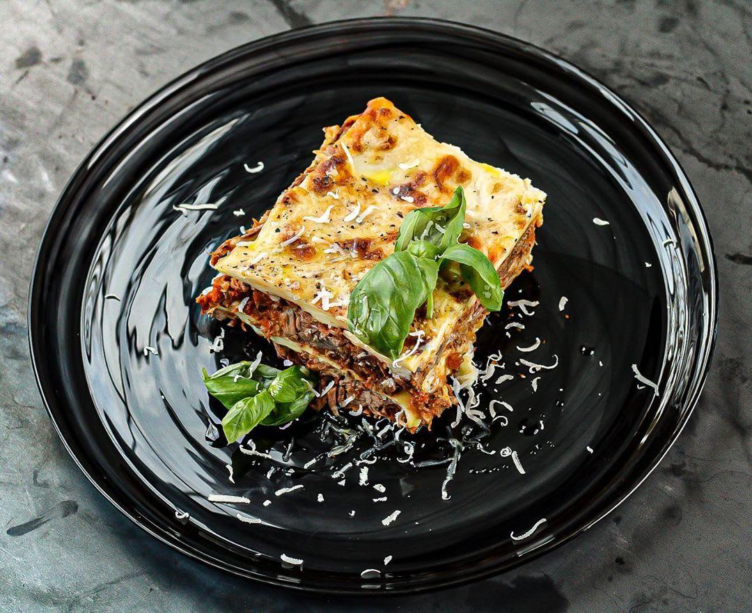 Slow cooked Lamb Shoulder Ragu Lasagna with Wensleydale cheese
