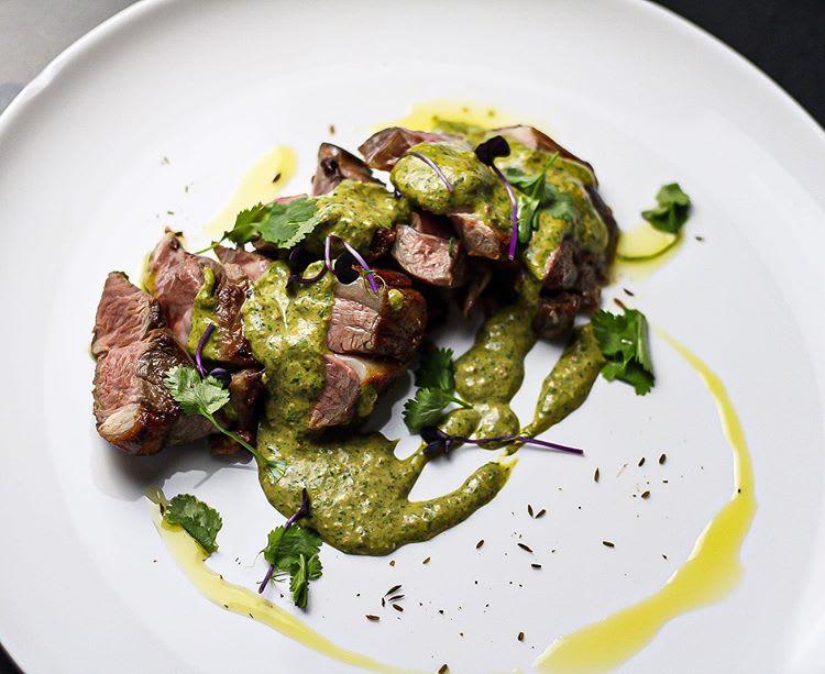 Lamb Leg with Peruvian 'Aji Verde' sauce