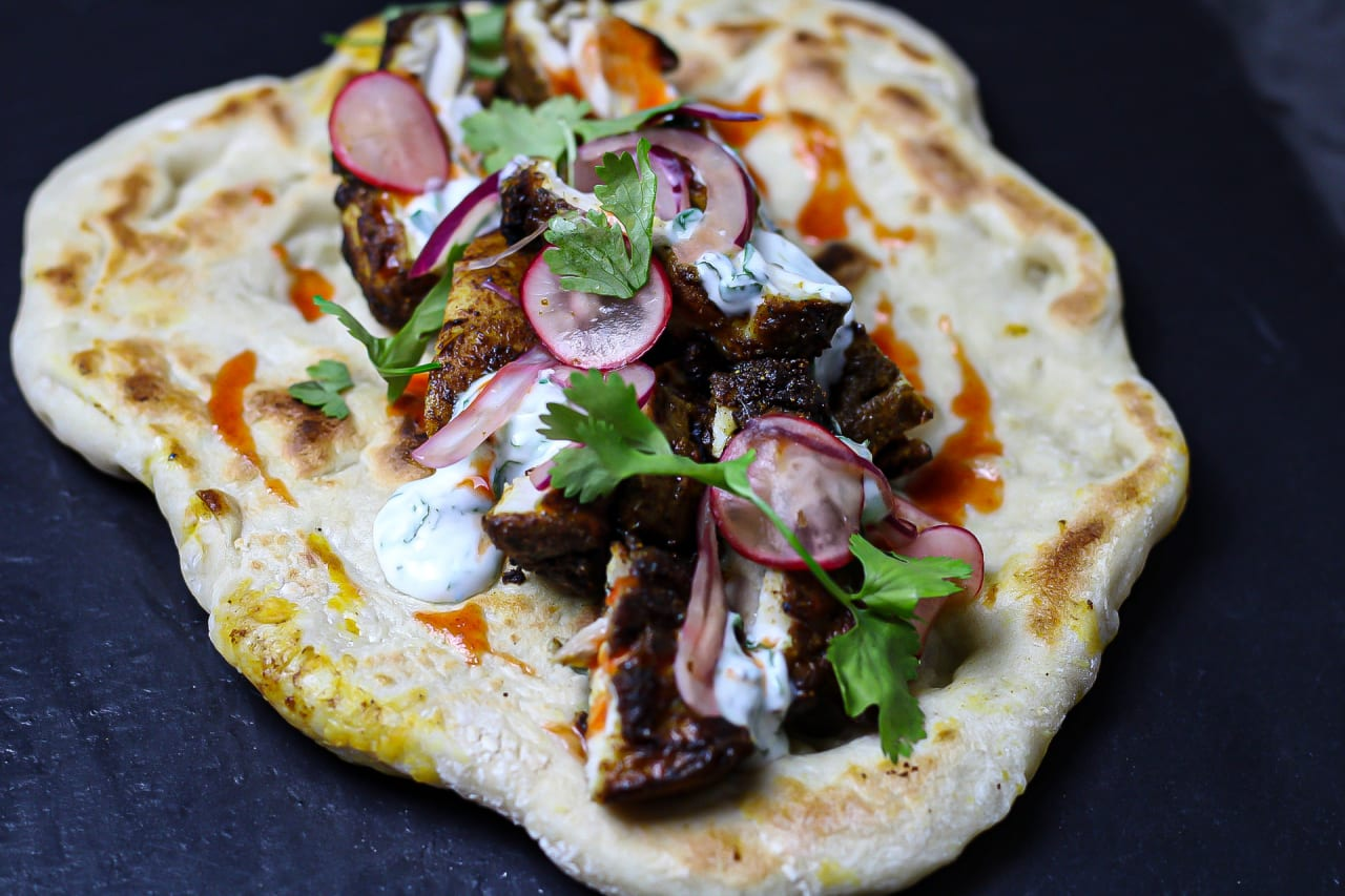 Chicken Kebabs with Flatbread