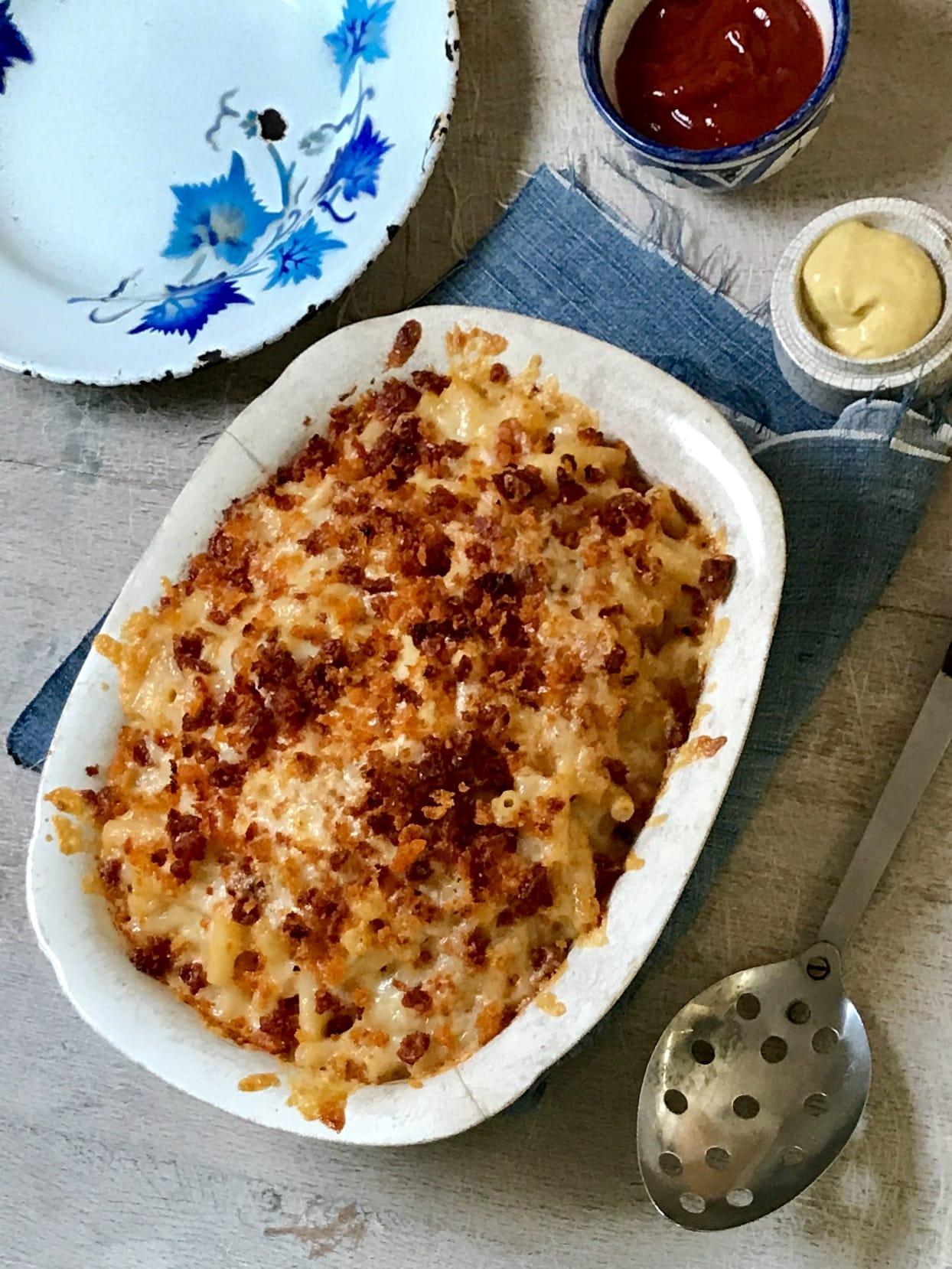 Mac and Cheese with Chorizo Crumb