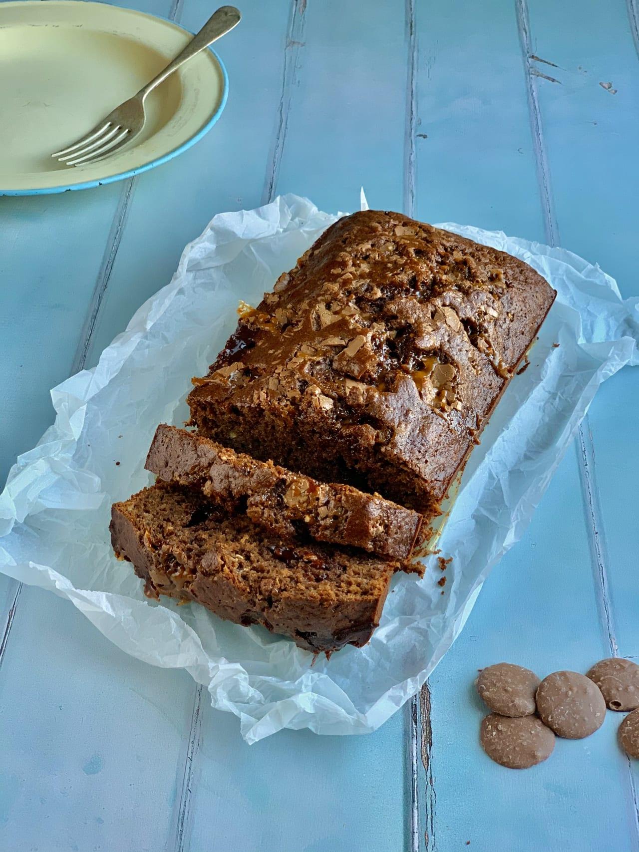 Daim Bar Chocolate and Banana Loaf