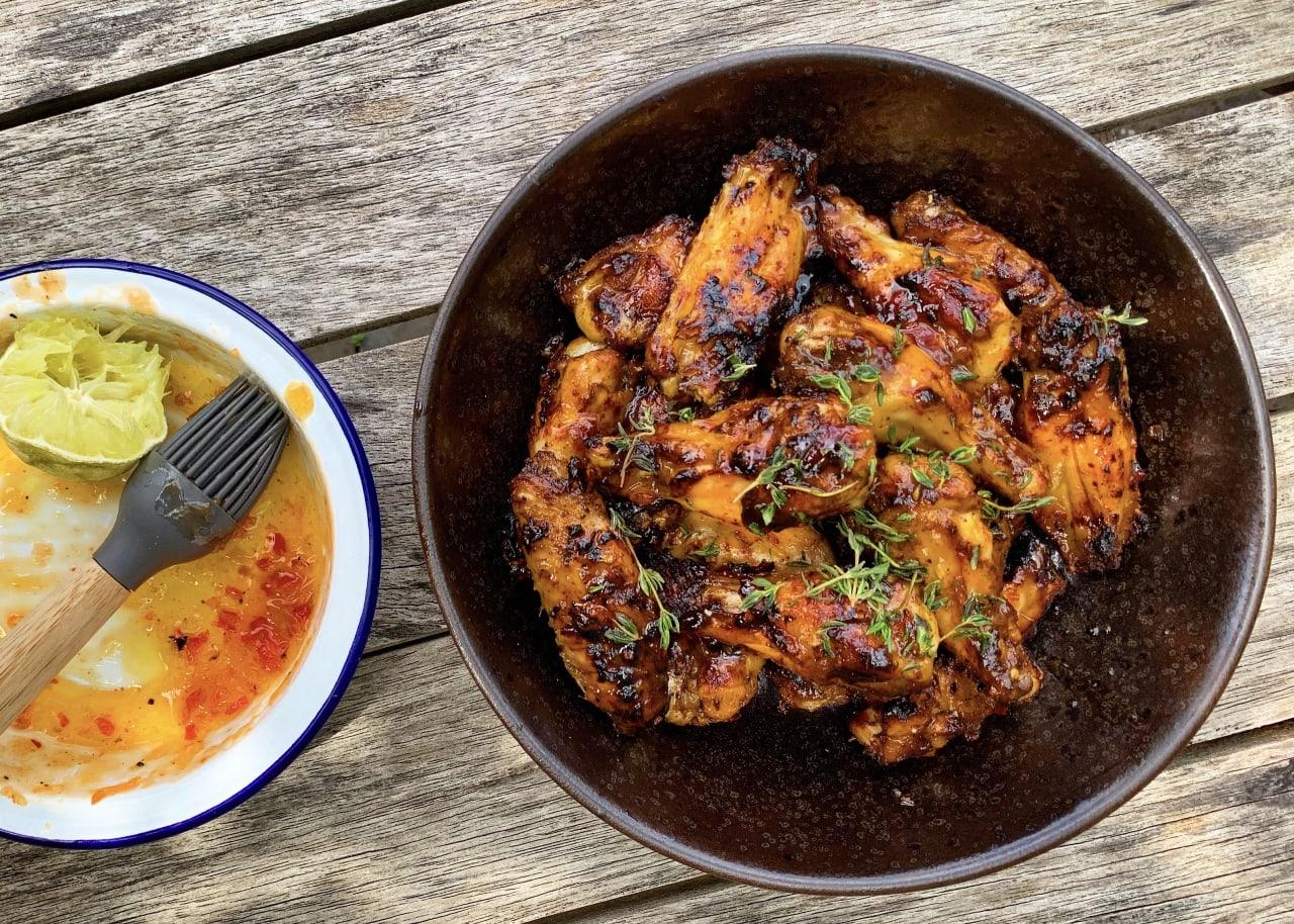 The Ultimate BBQ Jerk Chicken Wings