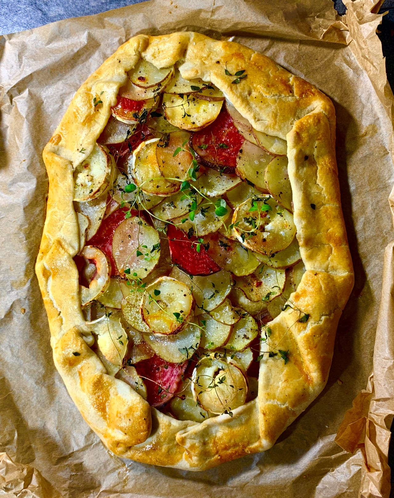 Potato, Thyme and Goat's Cheese Pie