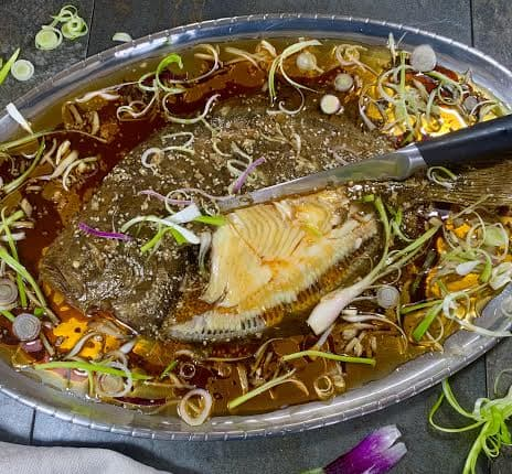 Chinese Style Baked Brill