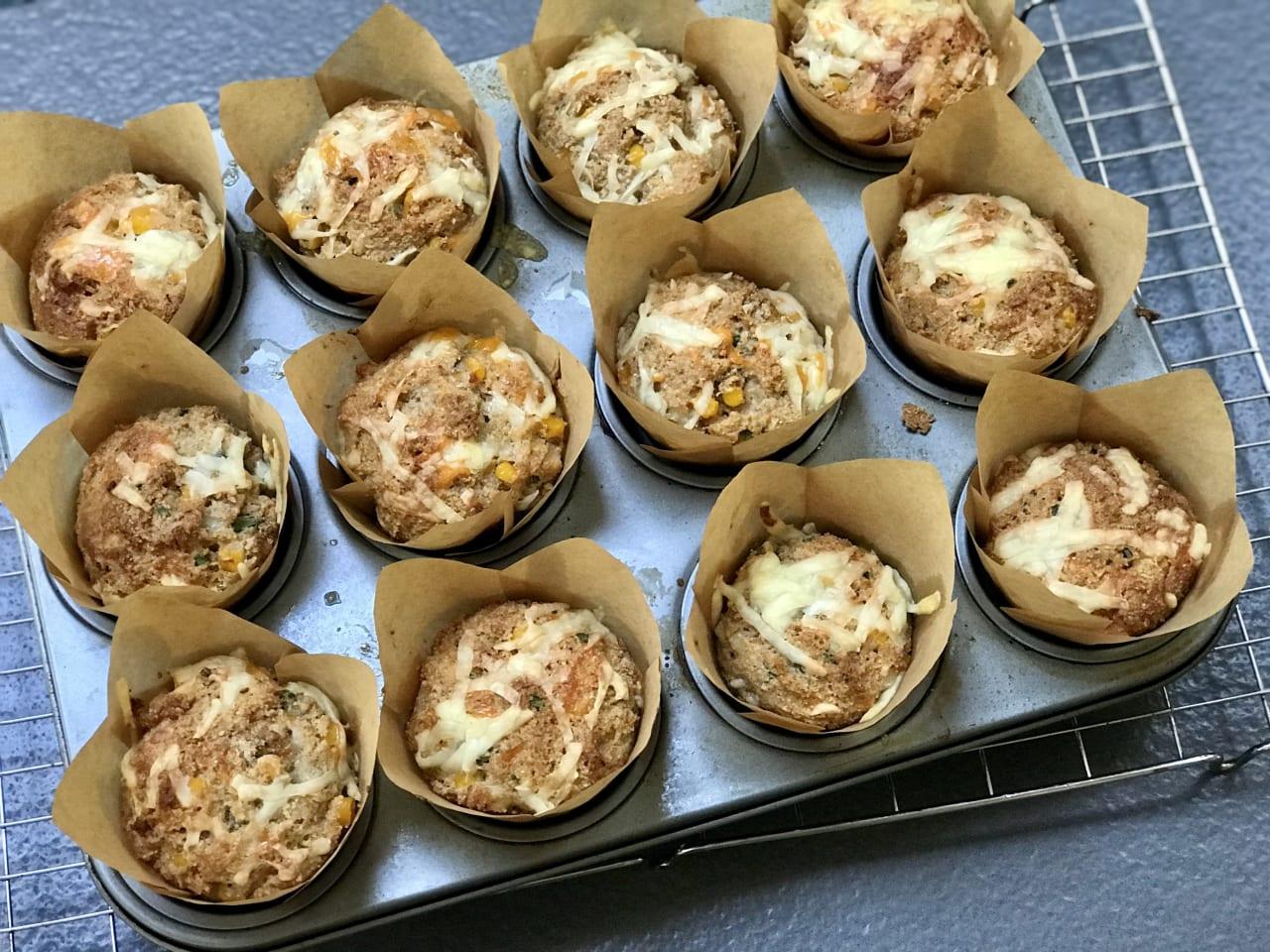 Savoury Cheese and Sweetcorn Muffins