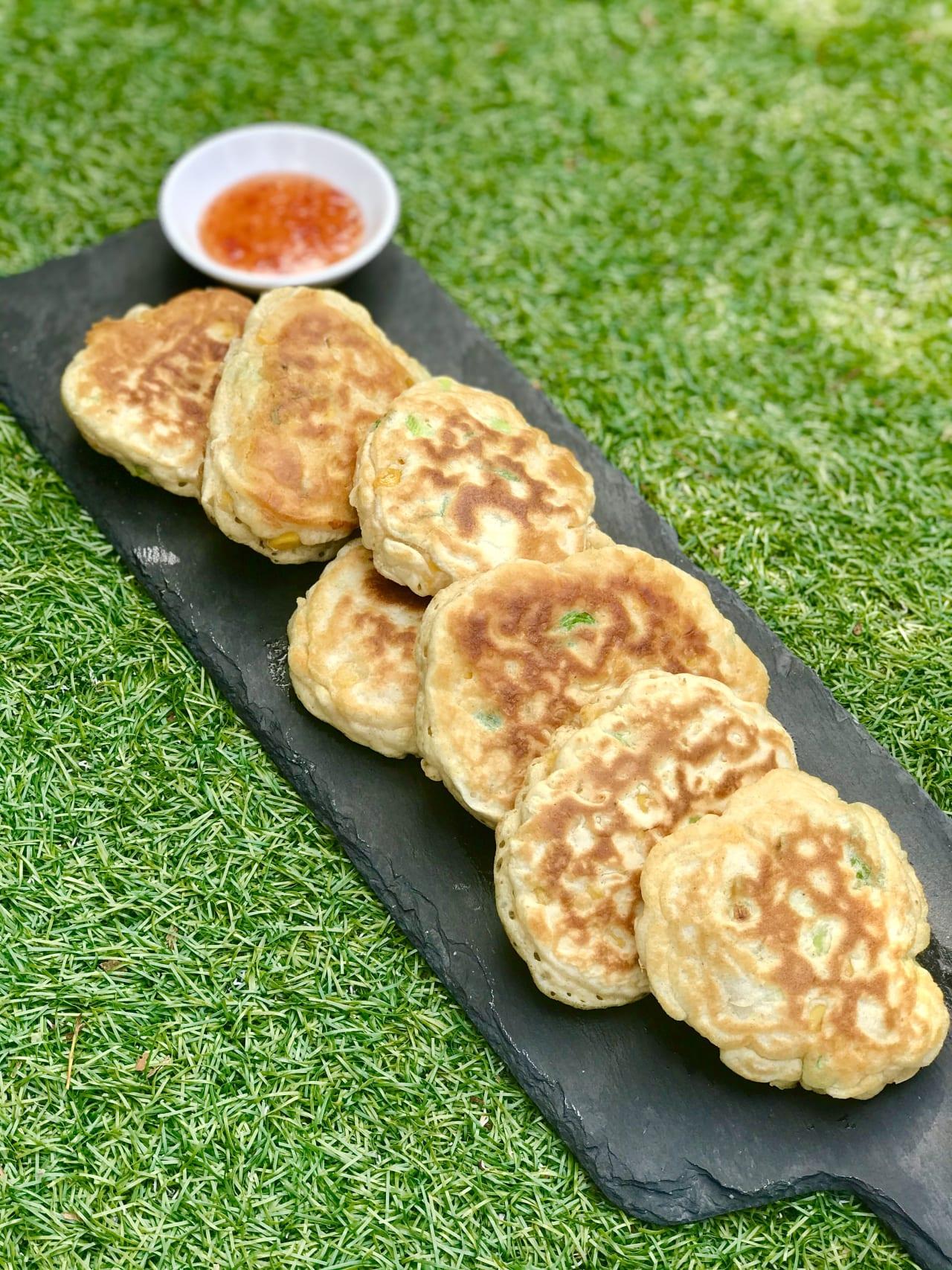 Sweetcorn and Spring Onion Pancakes