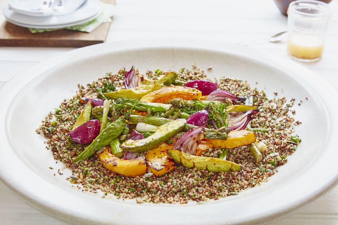 Charred Vegetable and Quinoa Salad