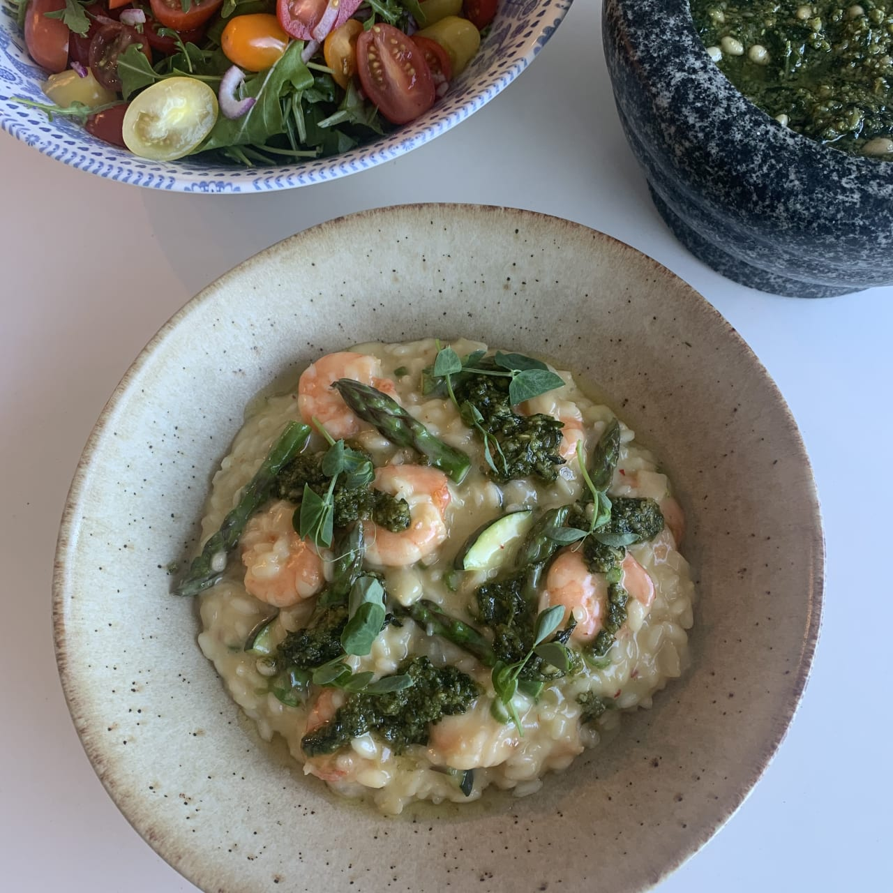 Prawn, Courgette and Asparagus Risotto
