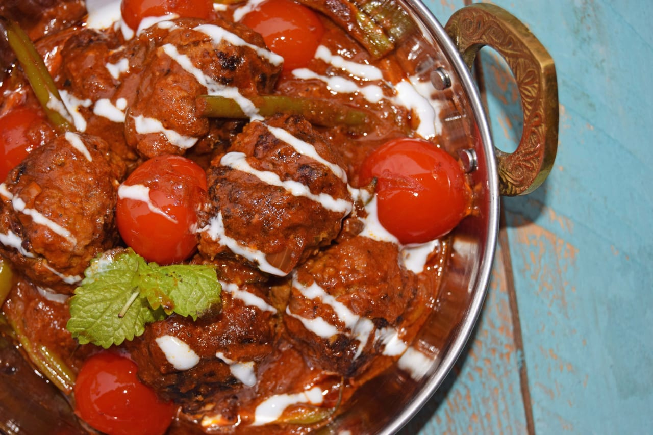 Minted Lamb Meatball Curry