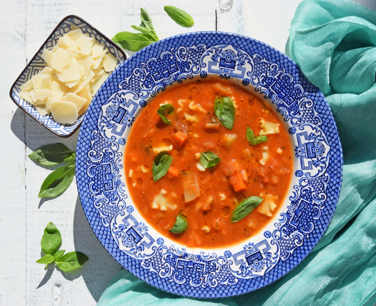 Roasted Tomato Minestrone Soup