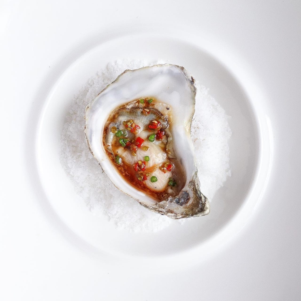 Lindisfarne Oysters with Asian Dressing