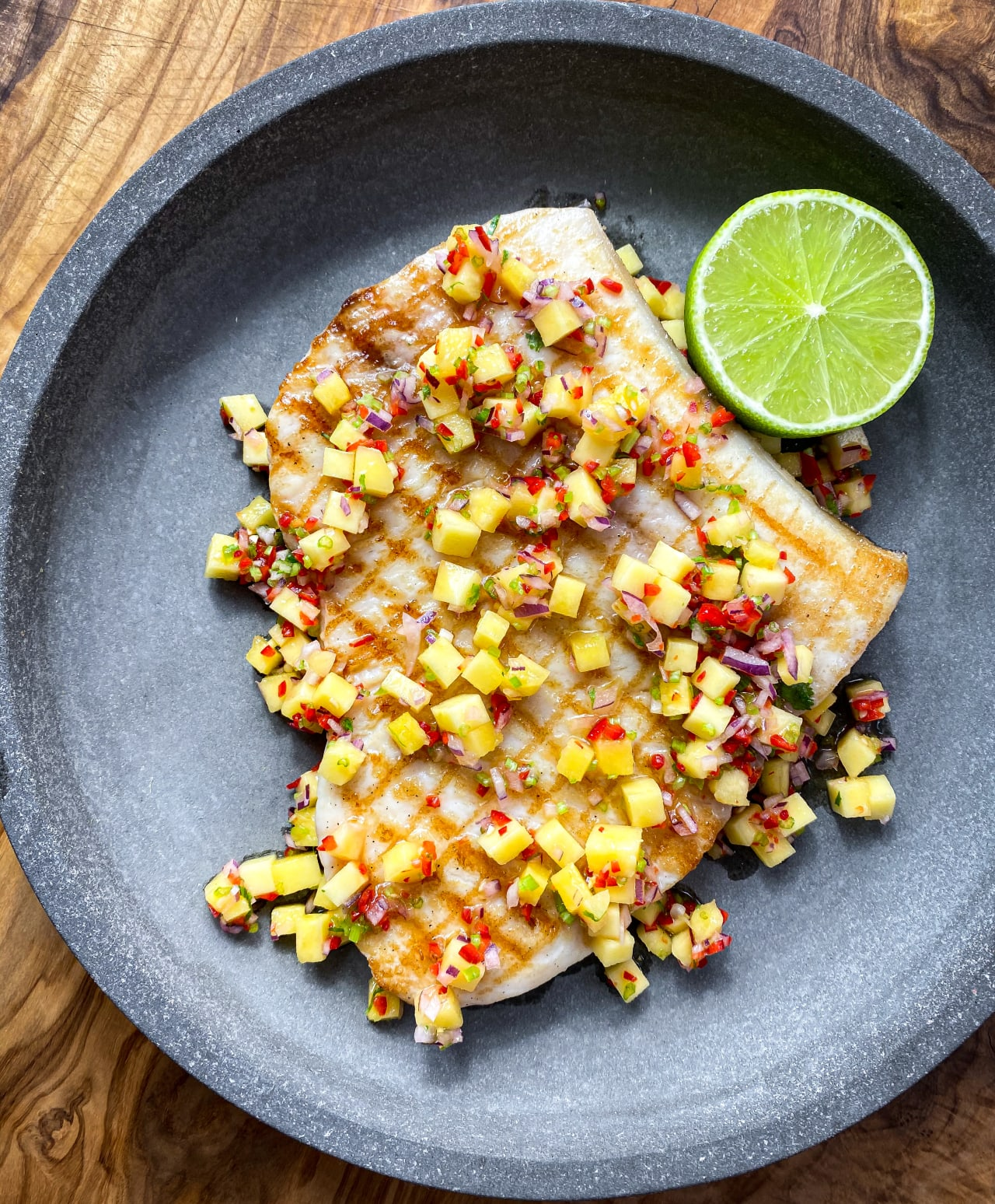 Griddled Swordfish with Mango Salsa