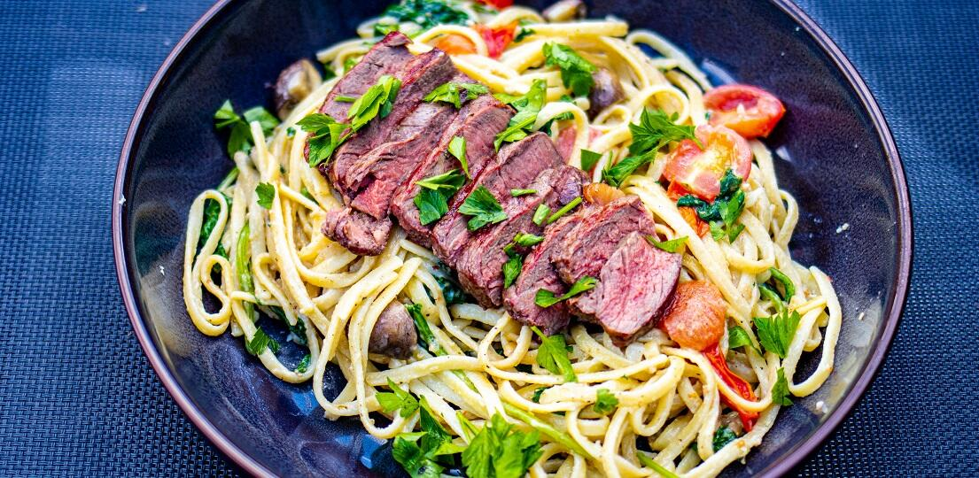 Creamy Steak Fettuccine